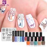 KADS Tree & animal design nail art stamping plate SET Nail Template Plates Template Plates Nail Stamping Plate Polish Stencil