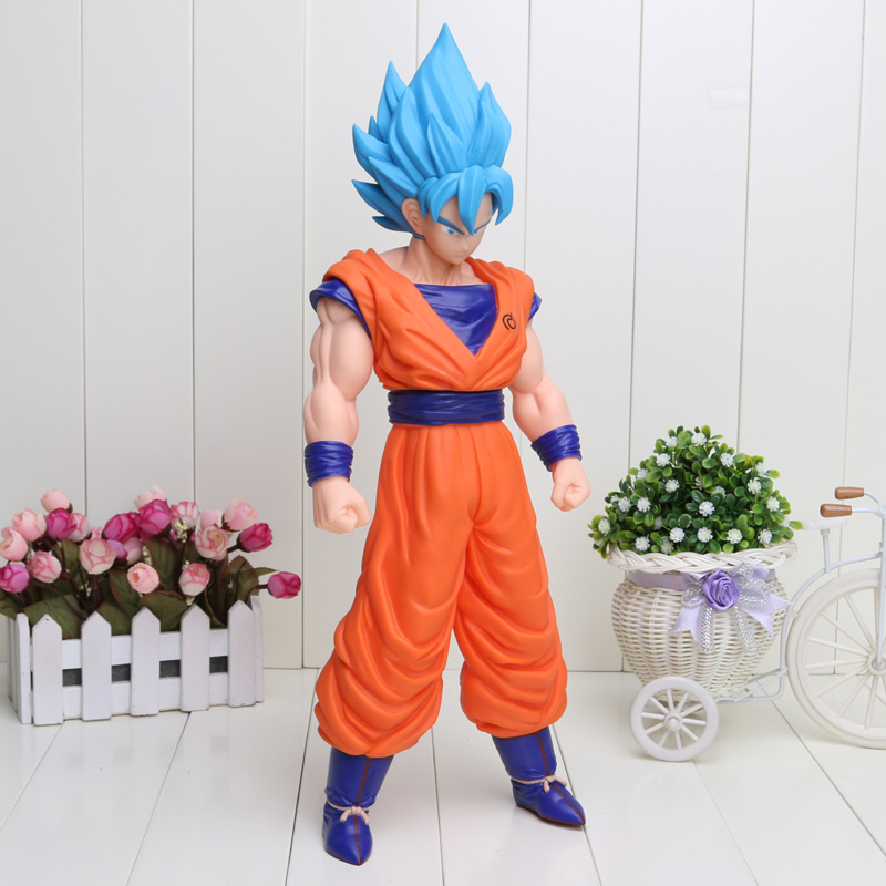 42cm Big Size Cartoon Dragon Ball Z Super Saiyan Son Goku PVC Action Figure Toy Model Doll Dragon Ball Figure new hot pvc action figure zero ex dragon ball gt super saiyan 4 son goku model doll decoration collection figurine toys for gift