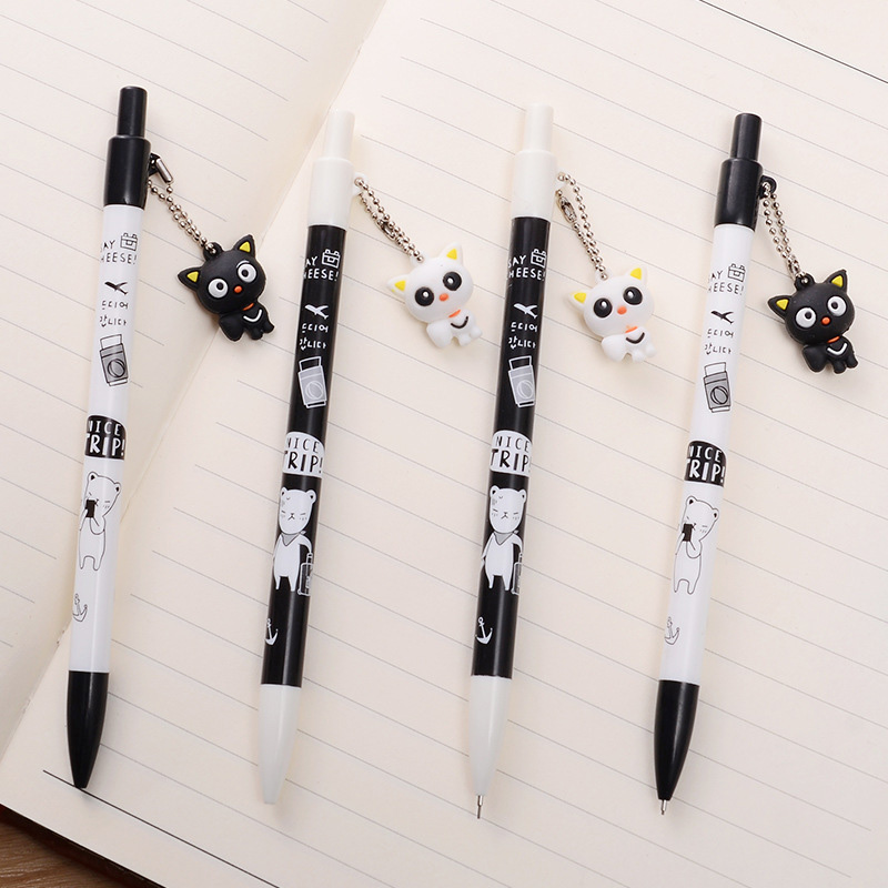 1PC 0.5mm Kawaii Cat Mechanical Pencil Cute Pendant Mechanical Pencils For Kids Gifts Kawaii Stationery School Office Supplies