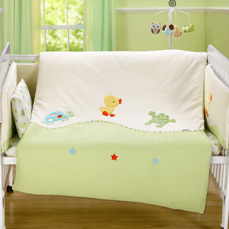 Cotton Baby Quilt Thickened Flannelette Newborns Four Season Quilt Cover Soft Blankets Bedding Set Include Quilt Cover And Quit double quilt cover set eponj home double quilt cover set