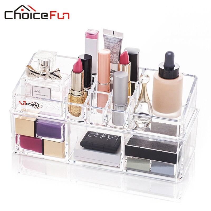 Lipstick Makeup-Organizer-Box Vanity-Desk Make-Up Home-Storage Cosmetic Acrylic Clear