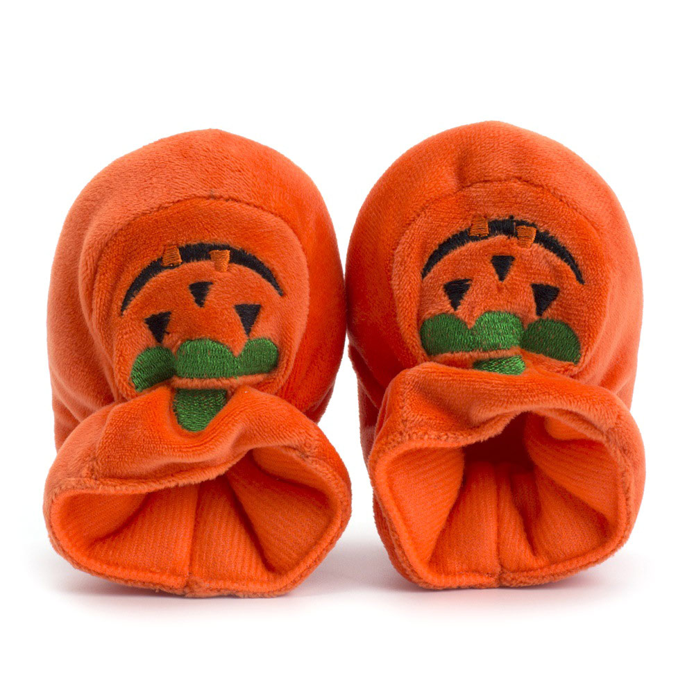 1 Pair Kids Baby Shoes Pumpkin Keep Warm Anti-slip First Walkers Learn Breathable For Halloween BB55