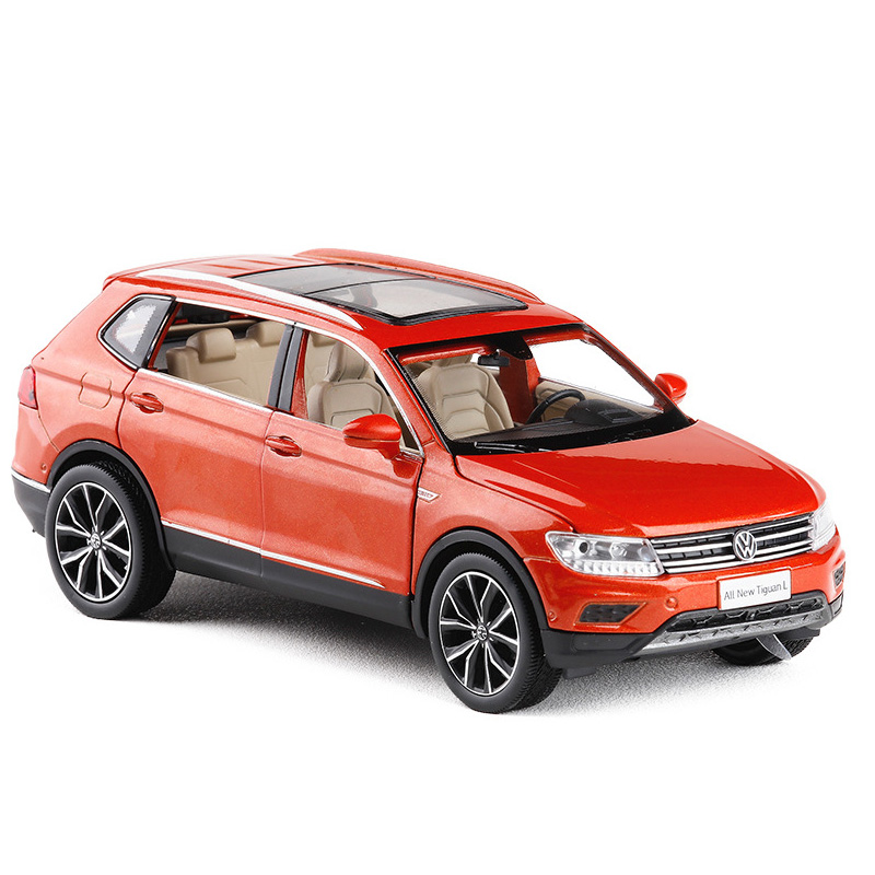 1:32 Tiguan L Family Diecast Metal SUV Alloy Toy Cars Pull