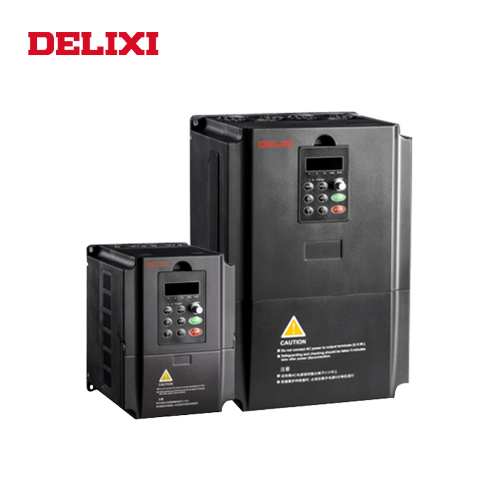 DELIXI AC 220V 5 5KW 7 5HP 3 phase input output frequency inverter drives VFD for