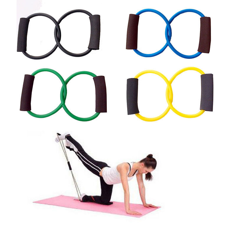 Resistance Band Yoga Pilates Abs Exercise Stretch Fitness