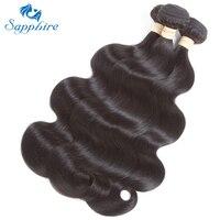 Sapphire Body Wave 4 Bundles Lot Malaysian Body Wave Human Hair Bundles 100 Malaysian Remy Hair
