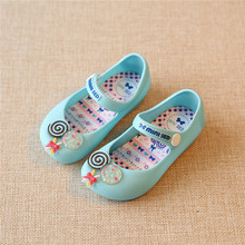 2017 children shoes kids sandals mini SED girls sandals anna shoes jelly toddler Christmas girls shoes sandals zapatos