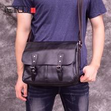 AETOO Classic minimalist head cowhide mens postman bag, casual tanning leather shoulder crossbody vintage commuter
