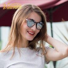 Viewnice 2018 Nuevo Retro de Las Mujeres gafas de Sol de Marca de Fábrica Polarizaron las Gafas de Plástico marco de Promoción Gafas De Sol Mujer Azul con caja V0824
