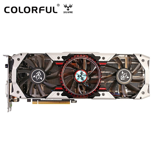 Original Colorido IGame GTX 1080 X-8GD5X ANÚNCIO Top V3 Placa Gráfica Nvidia GeForce 256bit GDDR5X HDMI DVI DP Para Jogos computador
