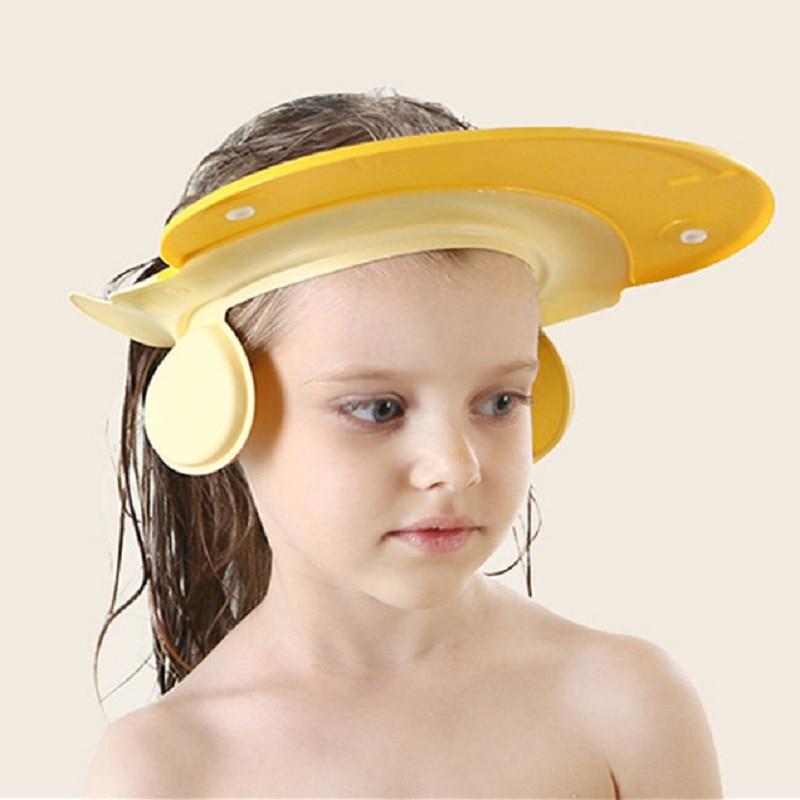 1Pcs Adjustable Baby Shower Hat Toddler Kids Shampoo Bathing Shower Cap Wash Hair Shield Direct Visor Caps for Baby Care Lovely