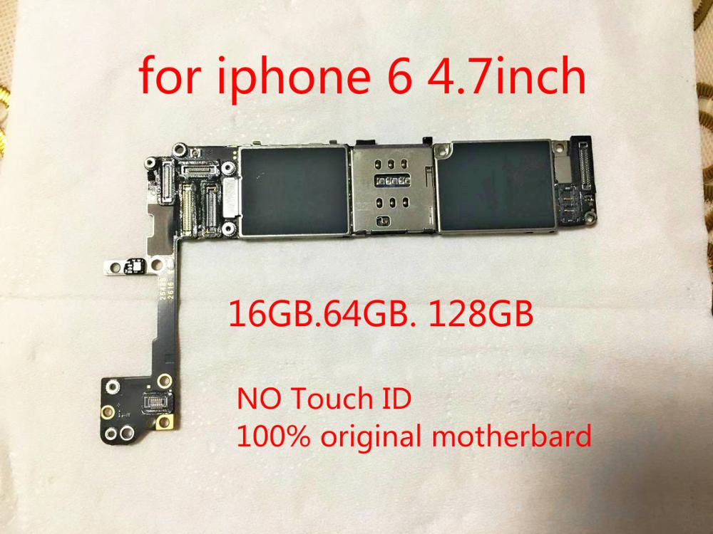 100% Original unlocked Logic board Circuits motheboard For iphone 6 128GB without touch ID without Fingerprint+tool+gift(China)
