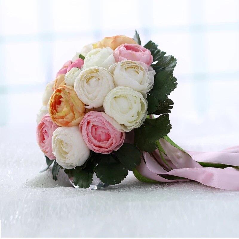 Rose Flowers Bridal Wedding Bouquets 20 Handmade Flowers Wedding - Bruiloft accessoires - Foto 3