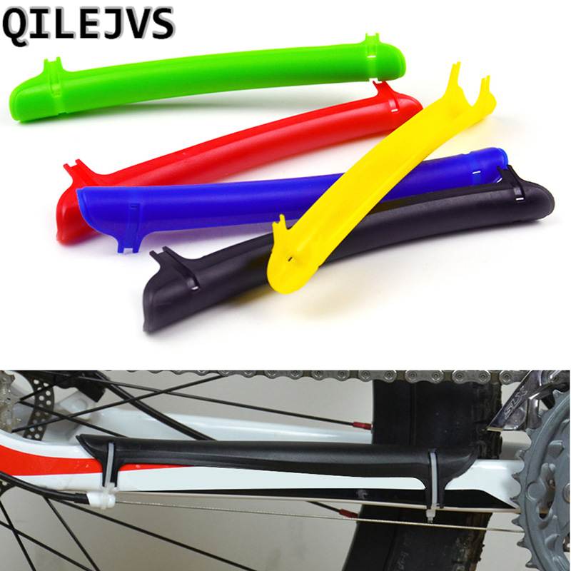 QILEJVS Rubber Cycling Bicycle Frame Chain Stay Protector Stick Cover Guard Bike Accessories outdoor cycling bike neoprene chain stay protector guard cover chain guards bike cover dustproof bicycle accessory