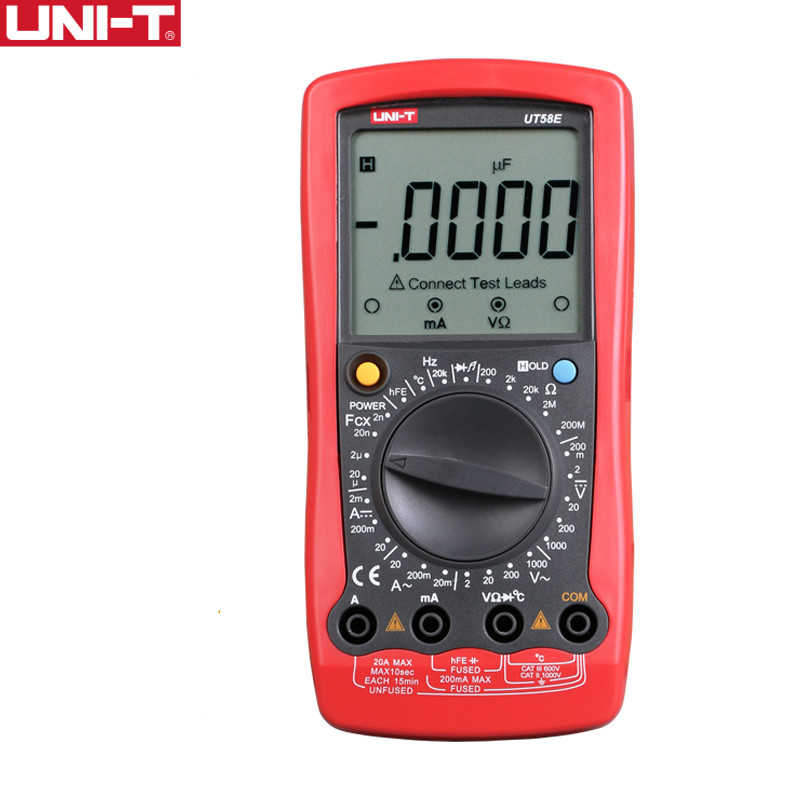 UNI-T UT58E Ammeter Multitester DMM Digital Multimeters DC/AC Voltage Current Resistance Capacitance Tester Data цена