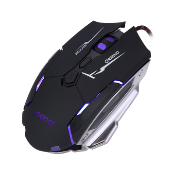 VODOOL K1015 7 Buttons 4 Colors 4000 DPI Adjustable Optical USB Wired Mouse Gamer Professional Gaming Mouse Mice Wired mause เมาส์