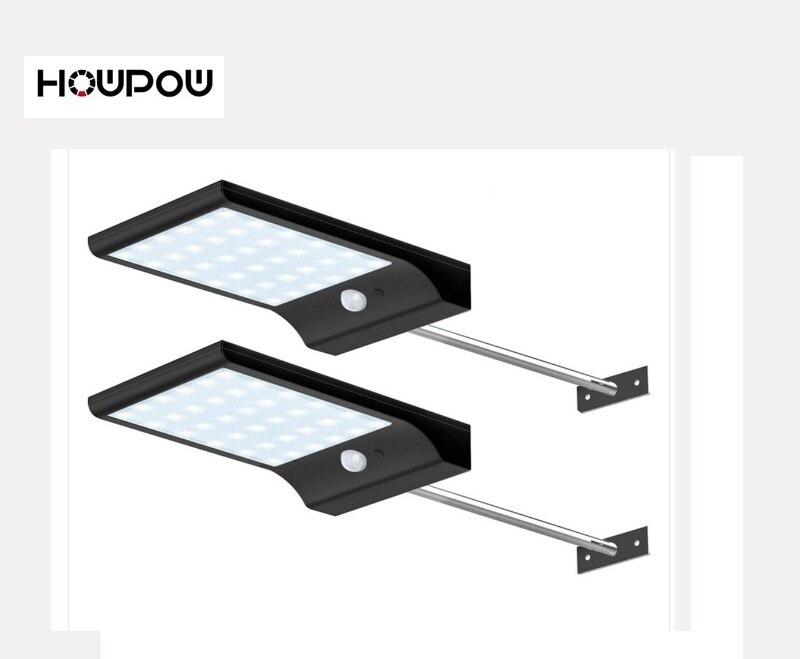 HOWPOW 48 leds lumière solaire couleur réglable avec contrôleur trois Modes lampe étanche lumières pour jardin extérieur Wall Street