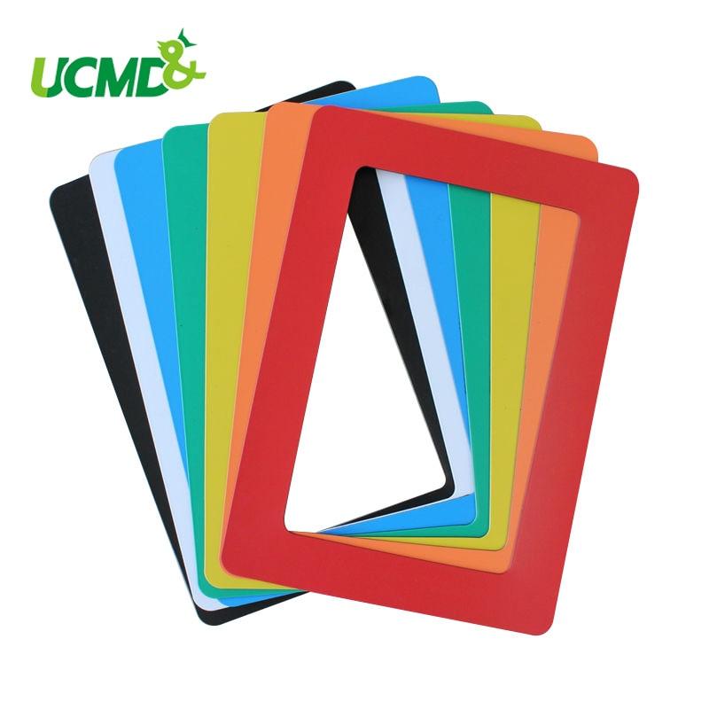 magnetic photo frame fridge magnets refrigerator decor flexible multicolor square frame picture frames 5pcs lot