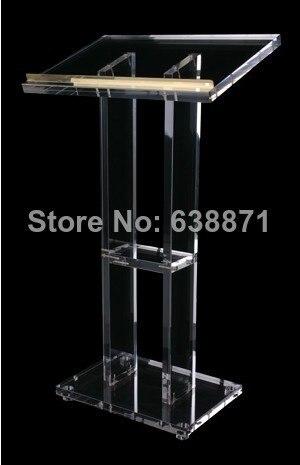 Free Shiping Clear Modern Design Lectern, Podium , Acrylic Lectern Podium,plastic Church Pulpit