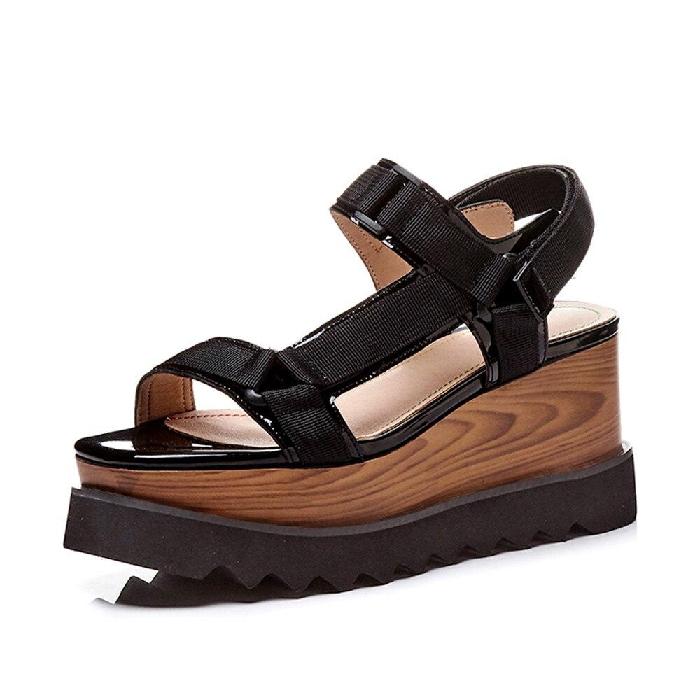 MORAZORA 2020 nueva llegada sandalias de Mujer Zapatos de verano de cuero genuino zapatos de plataforma de mujer casuales sólidos talla grande 33  41-in Sandalias de mujer from zapatos    2