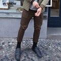 VIISHOW мужчины Случайные штаны 2016 Мужская Повседневная Slim Fit Брюк Брюки Для мужчин случайные штаны грузов прямо брюк