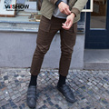 VIISHOW Men Armygreen Pants Cargo Trouser Men Clothing Mens Long Flat Straight Full Length Pants  KC33263
