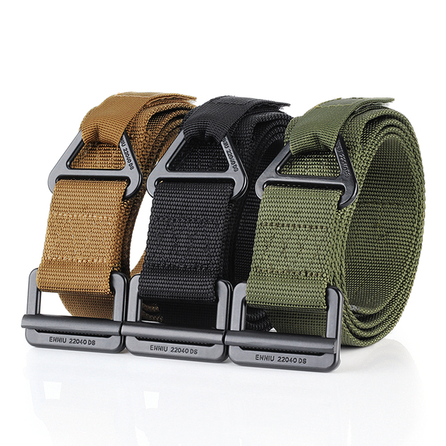 Tactical Belt Military Nylon Quick Release Belt Military Equipment for Outdoor Camping Mountaineering Climbing Training Hunting