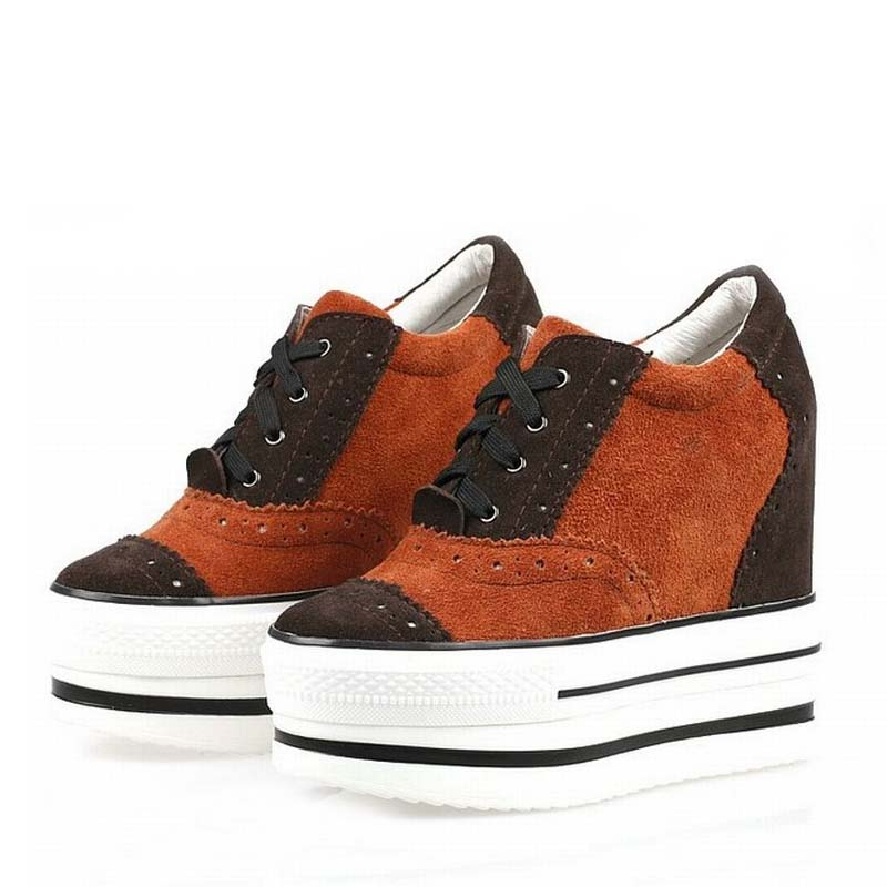 women shoes genuine leather platform wedge woman high heels mixed colors casual zapatillas deportivas zapatos mujer womens shoes