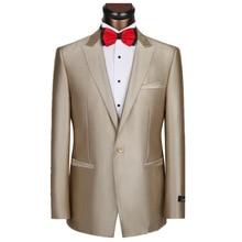Best seller suits Jackets Champagne Suit Slim Type Groomsman Bridegroom Jacket Mens Suits Tuxedo Men Coat Custom Made
