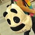 Novo Inverno Quente Bonito Dos Desenhos Animados Plush Panda Cabeça Panda de Pelúcia Mochila Moda Mochila Casuais Mochila Escolar Menina
