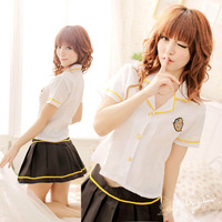 Sexy Lingerie sexy cosplay sexy school girls uniform student Baby Doll Lace lenceria Pajamas set nuisette woman