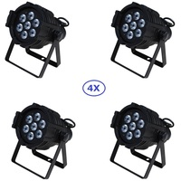 4xLot Free Shipping 7x15W RGBAW 5IN1 Mini LED Par DMX Light 7x 15 watt High Power 5 in 1 RGBWA Par LED DJ Disco DMX Stage Lights