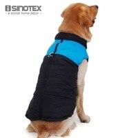Nova marca Big Vest Dog Pet Roupas Casaco de Inverno Para Animais de Estimação Sem Mangas Quente À Prova D' Água Jaqueta De Nylon