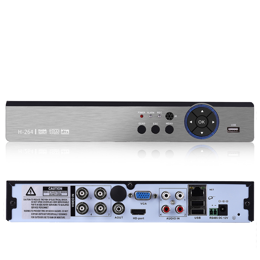 5 IN 1 H.265 5MP AHD DVR NVR XVR CCTV 4Ch 5MP Hybrid NVR Security DVR Recorder Camera Onvif RS485 Coxial Control Xmeye APP