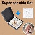 Aparelhos Auditivos do ouvido Super Som Voz Amlifier aids Set Cuidados Pessoais fácil de usar Aparelho auditivo Velho ou Surdos A Avó e Avô presente