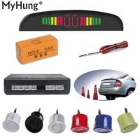 Car LED Parking Sensor Monitor Auto Reverse Backup Radar Detector System LED Display 4 Sensors 6