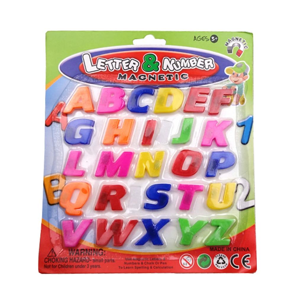 Souptoys Colorful ABC Abeceda Chladnička Magnet Včasné učení Vzdělávací hračky-26ks Koordinace ručního oka
