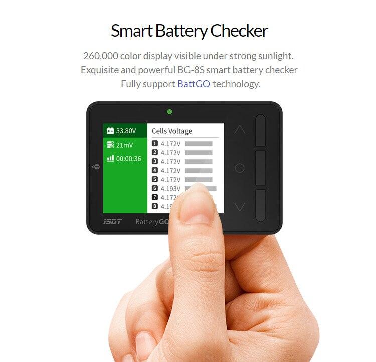Controlador de batería inteligente ISDT BattGo BG-8S con función de carga rápida
