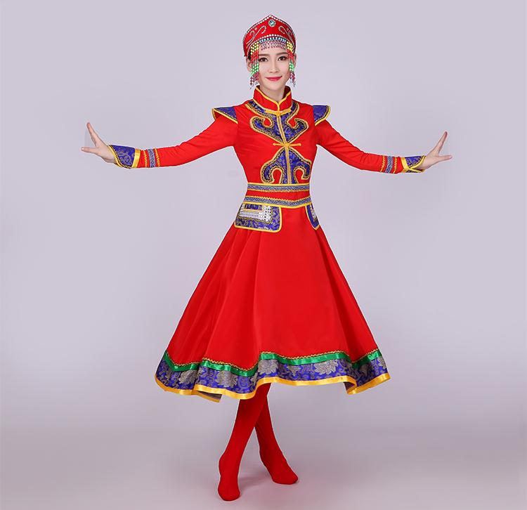 US $35 84 36% OFF|The New Costumes Of Mongolian Dress Grassland Fly Yan  Hongyan Dance Costume Square Dancing Costume-in Chinese Folk Dance from