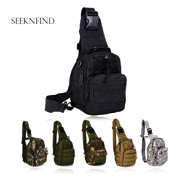 Outdoor Military Tactical Backpack 600d Oxford Shoulder Crossbody Bag Camping Trekking Travel Camouflage Hiking Hunting