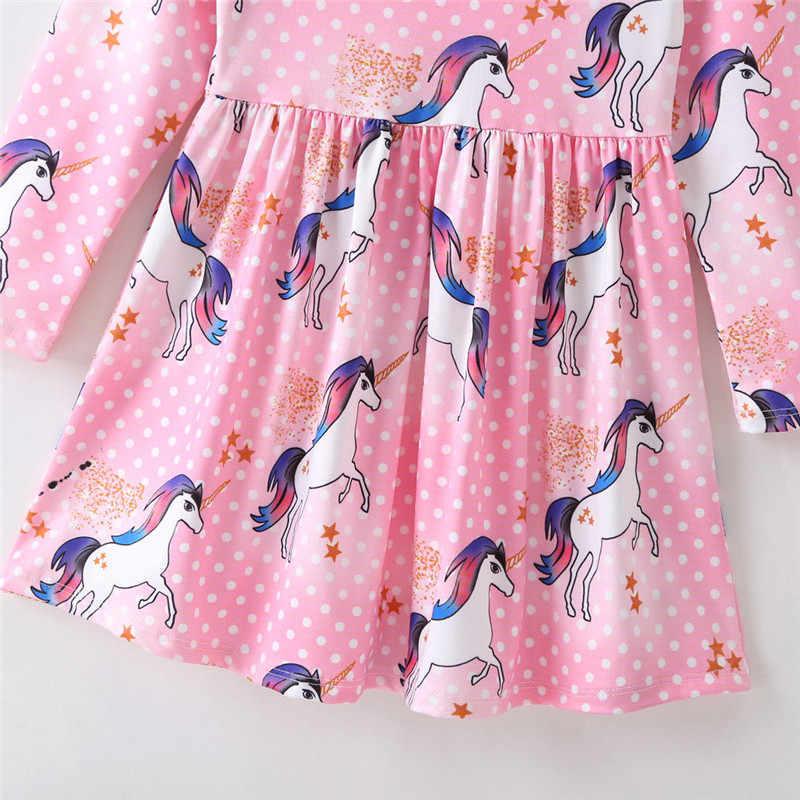Pudcoco mais novo crianças do bebê meninas floral festa pageant tutu princesa vestido de manga longa outono roupas casuais 1-6 t