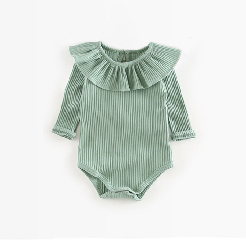green girl romper