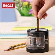 Çift delik elektrikli kalemtıraş pil/USB şarj otomatik kalemtıraş kalem kesme makinası okul malzemeleri EG 5161