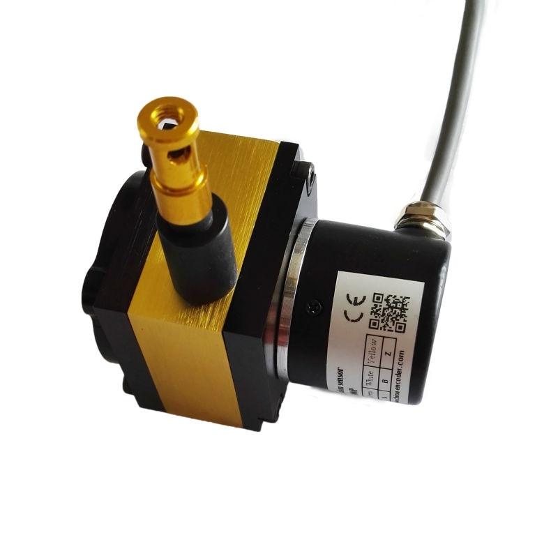 Saída analógica do sensor de posição do fio de Empate CWP-S800 com faixa de medição de 800mm potenciômetro linear transdutor
