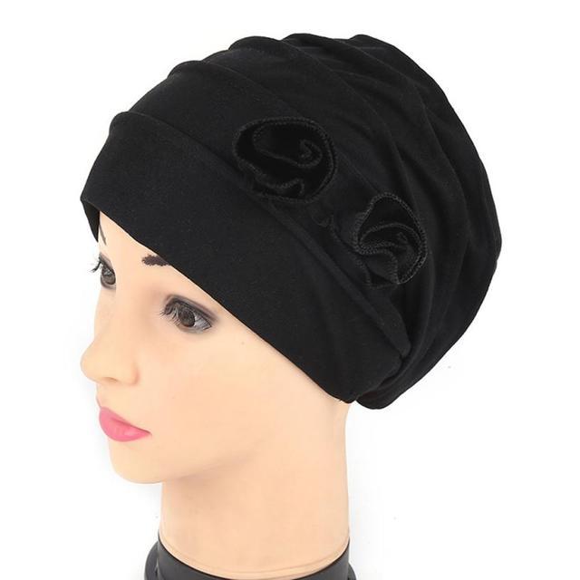 61deae7d2f070 Women Muslim Stretch Turban Hat Chemo Cap Hair Loss Head Scarf Wrap Hijib Cap  solid winter warm floral women s hiking caps hats
