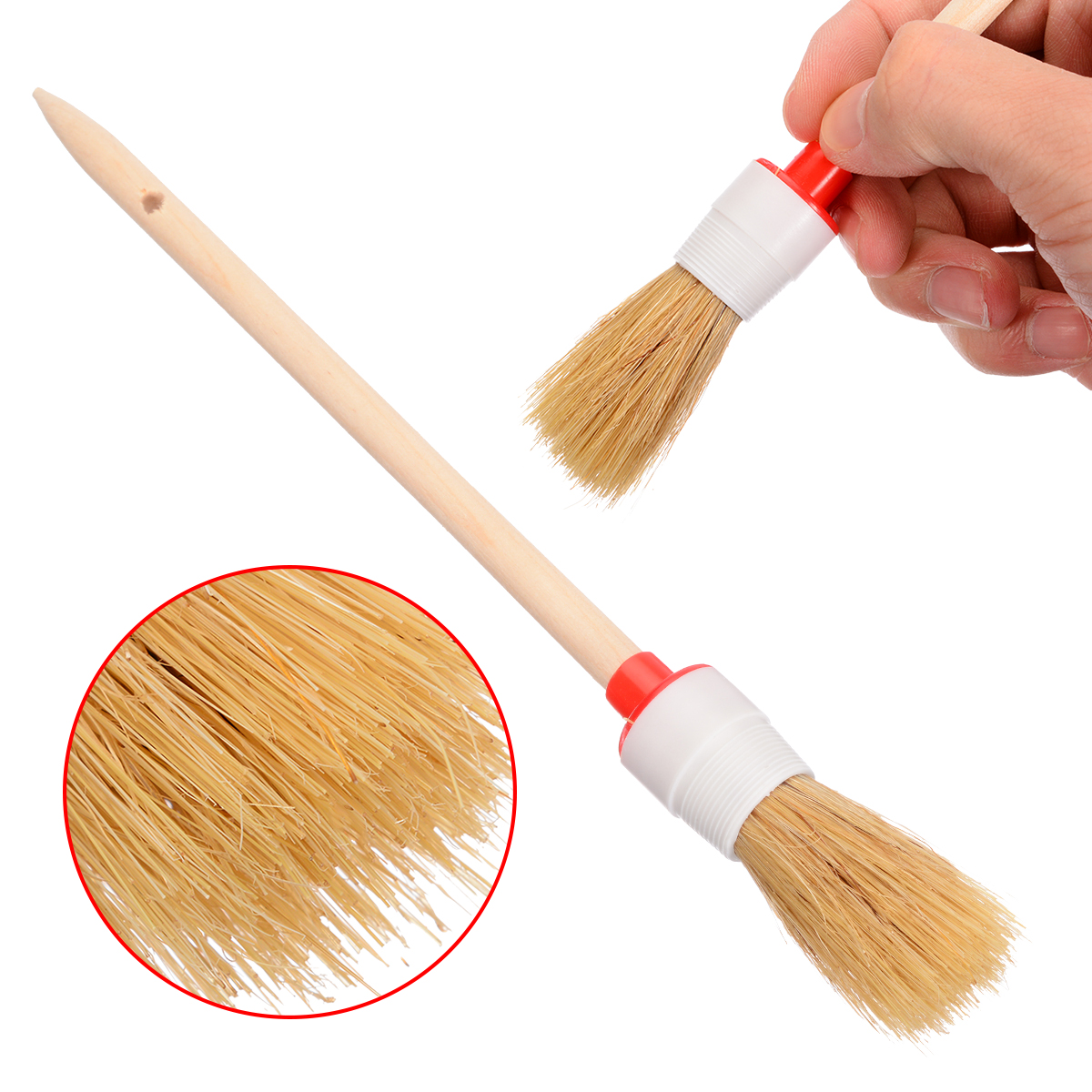Car Brush Soft Bristle Wood Handle Auto Care for Interior Dashboard Rims Wheel Air Conditioning Engine Wash Brush-in Sponges, Cloths & Brushes from Automobiles & Motorcycles