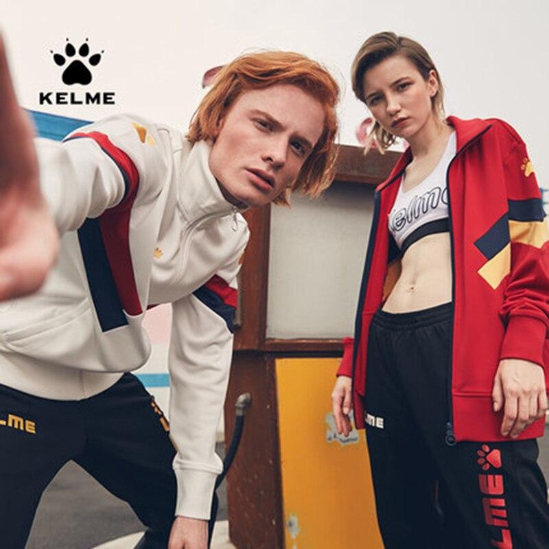 Kelme sport warm retro fashion leisure trend jacket training suit 3881328