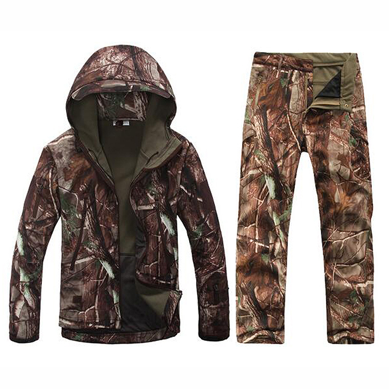Bionic chasse aveugle hommes à capuche Camouflage vestes hiver respirant puces pin Camo Ghillie costumes