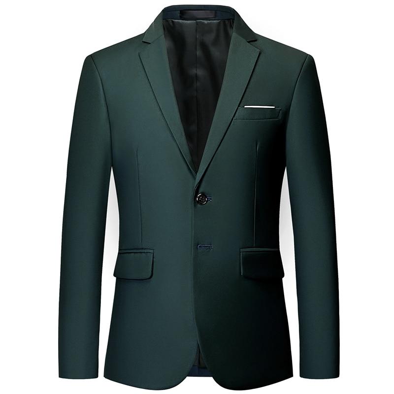 Plyesxale Blue Red Green White Gray Yellow Purple Blazer Men 2018 Slim Fit Man Blazer Casual Suit Jacket 5-6XL Men's Blazers Q65