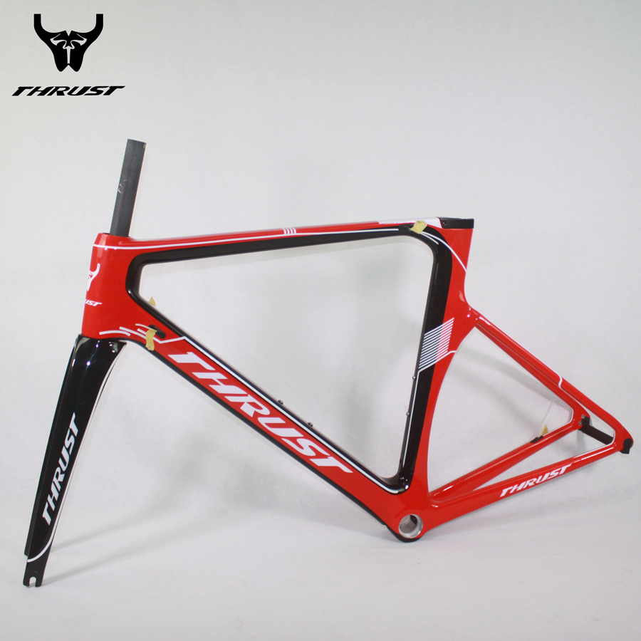 THRUST Carbon Road Frame 49 52 54 56 58cm 2017 China Red Orange Yellow Black White Carbon Frame Road Bike Parts For Bicycle цены онлайн